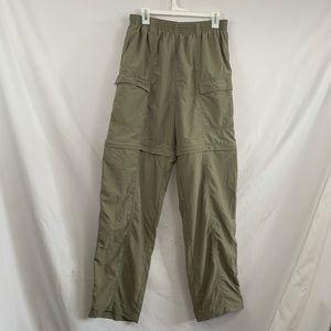 Columbia PFG convertible green pants w/ UPF 30+